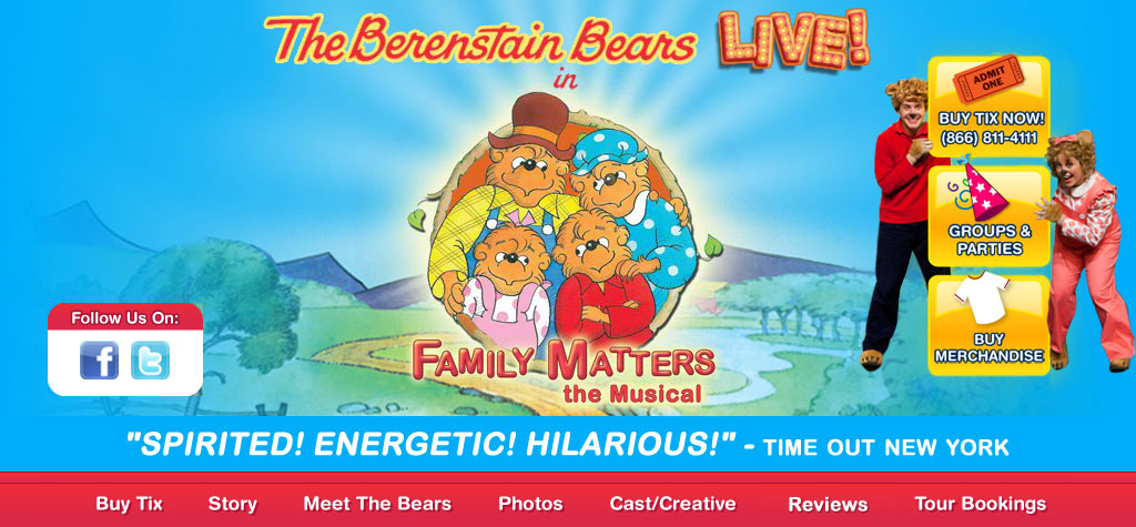 The Berenstain Bears LIVE! in Family Matters the Musical